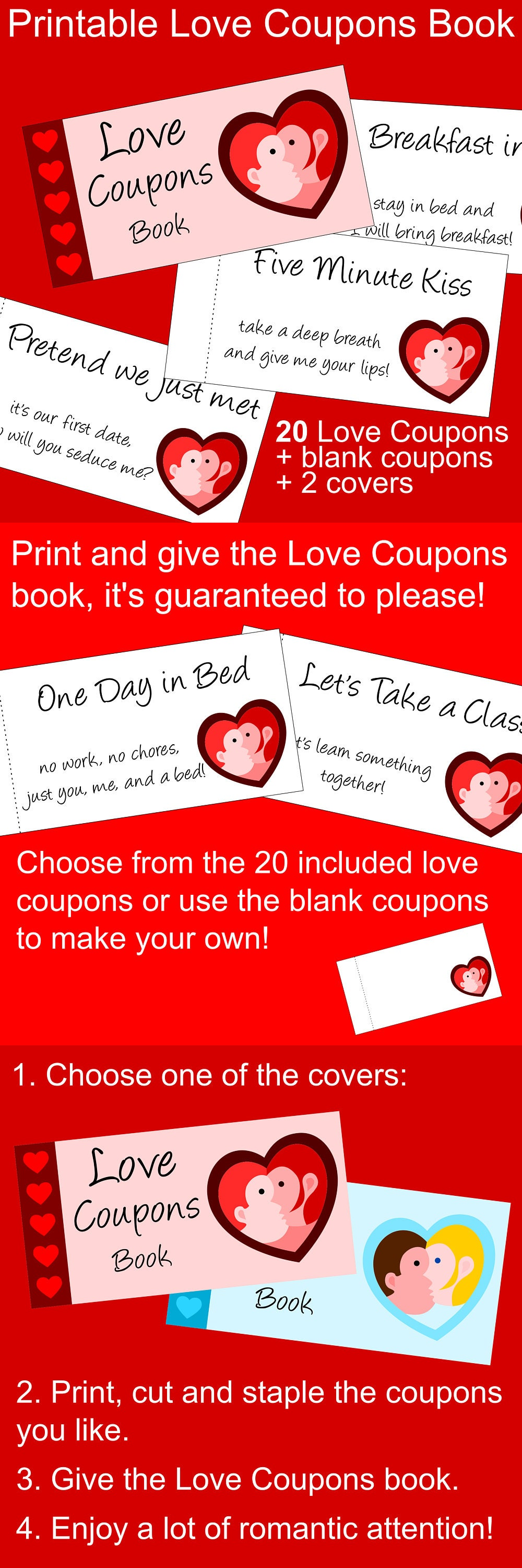 photo regarding Staple Printable Coupons known as Suitable Past Instant Valentine Present Principle for Him or Her: a