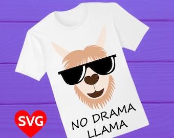 No Drama Llama SVG file to make Llama shirts and gifts, for kids, girls, boys, men, women and Mama Llama!