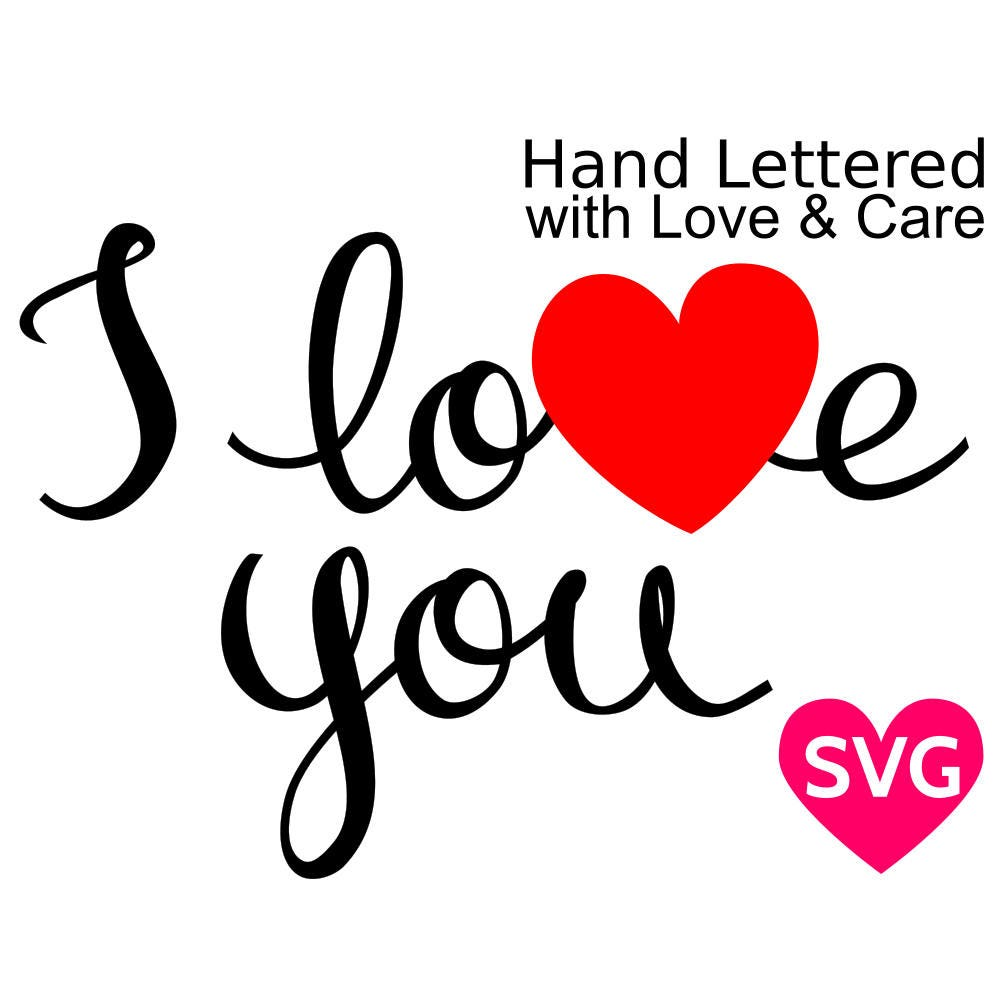 Download Handwritten I Love You SVG file for Cricut & Silhouette ...
