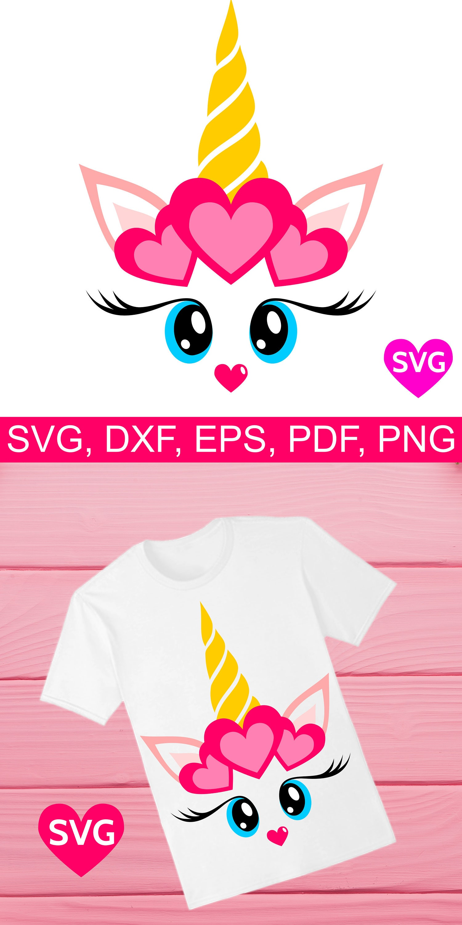 Cute Valentine S Day Gift For Her Valentine Unicorn Svg File With