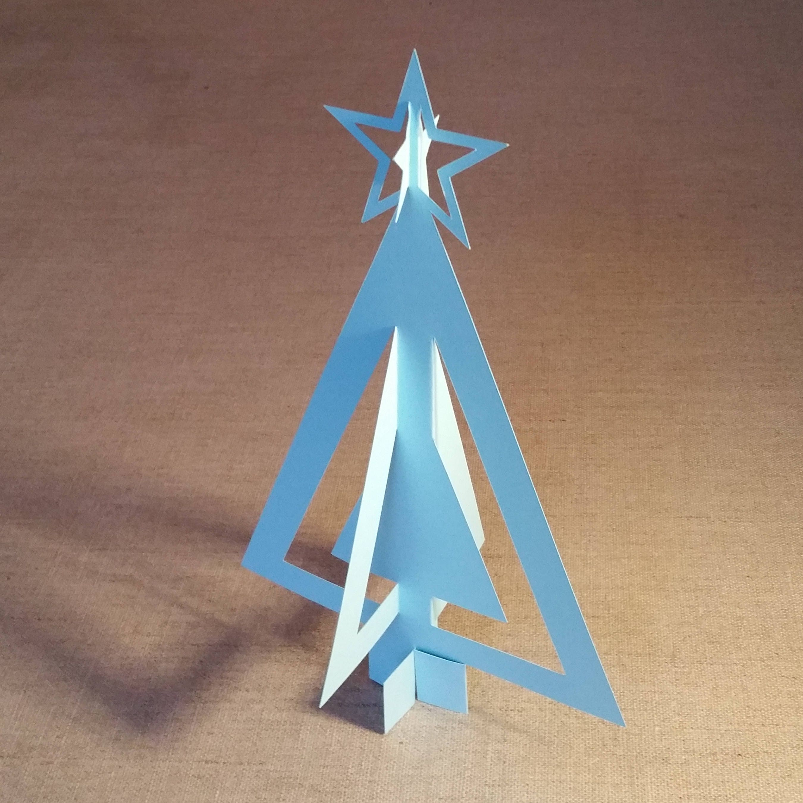 3d Paper Christmas Tree Template.Diy Paper 3d Christmas Tree Template Svg Pdf Dxf Png For Cricut