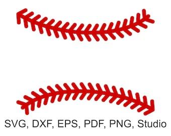 Baseball Stitches SVG Files, Baseball Laces SVG file for Cricut, Baseball Split Monogram Frame SVG files for Silhouette, Baseball Stich svg