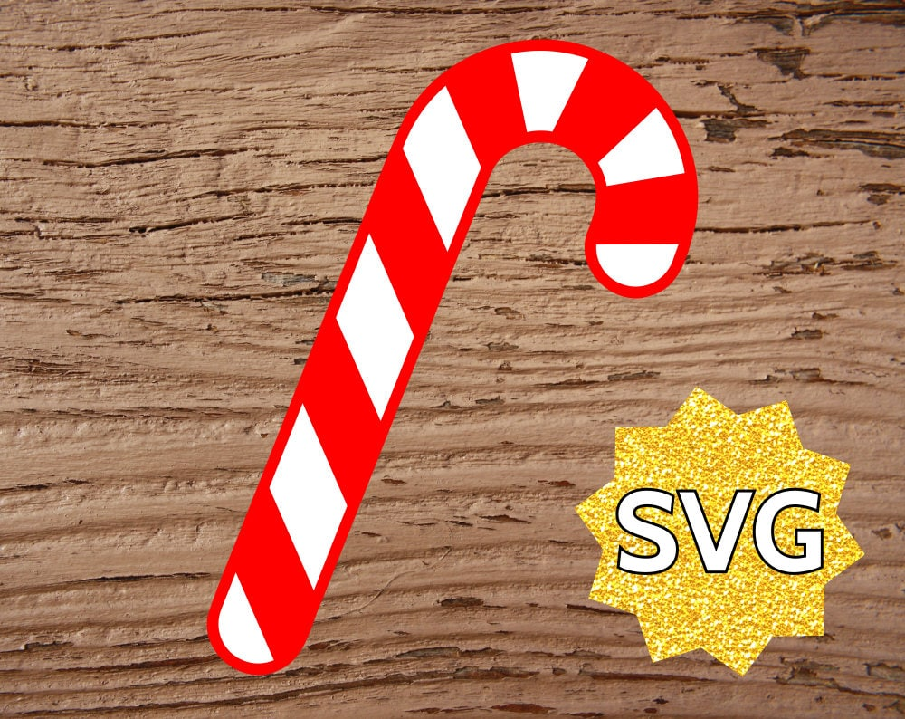 Candy Cane Svg File For Cricut Silhouette Christmas Candy Cane Svg Files