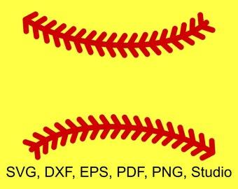 Softball Stitches SVG Files to make Softball Monograms and Shirts