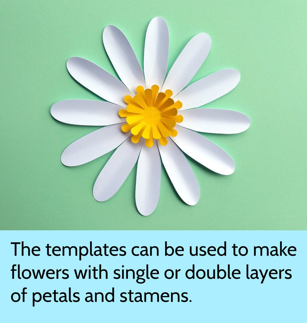 Easy Diy Daisy Gerbera Paper Flower Template Svg And Pdf To Cut