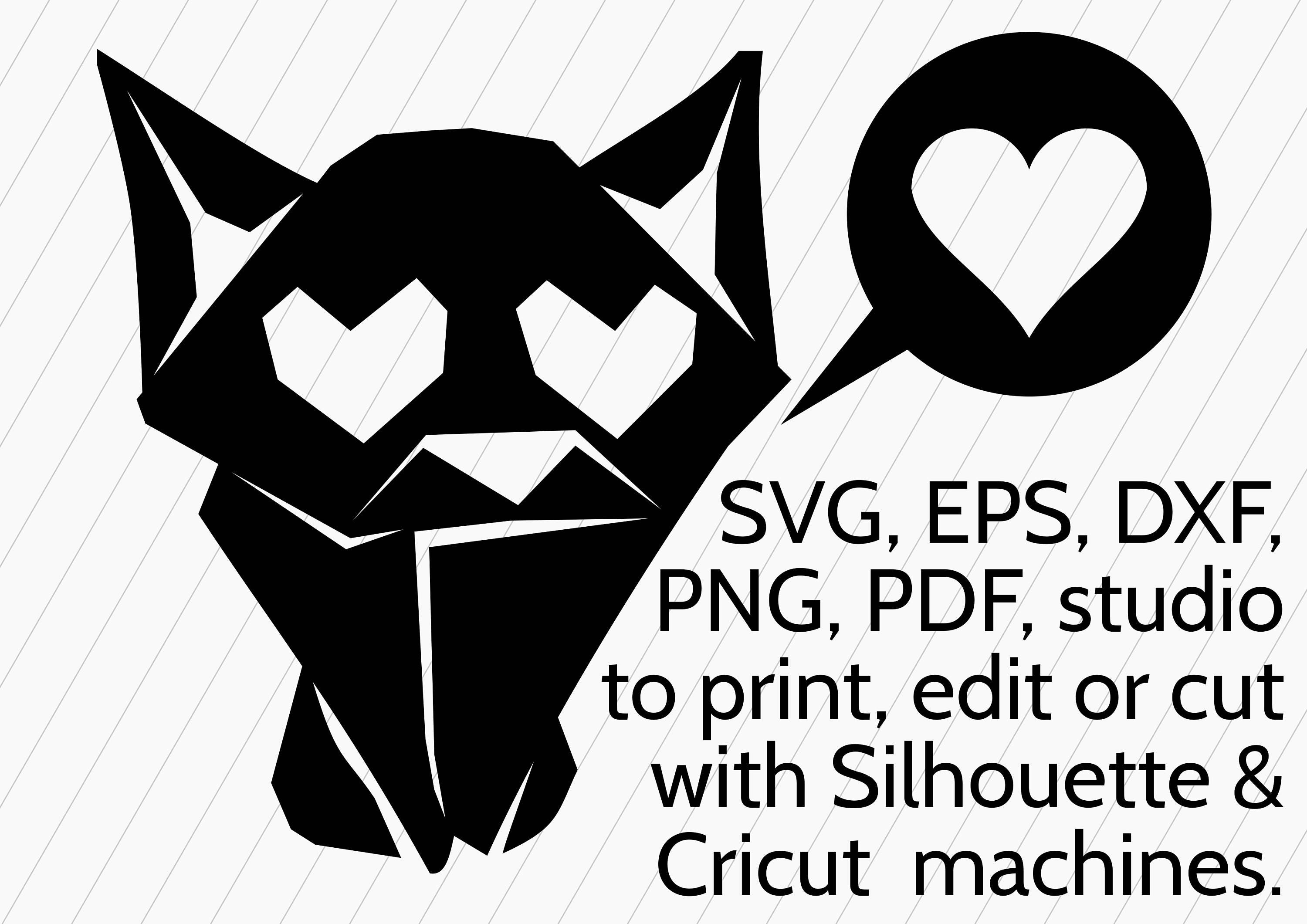 Download Adorable SVG Origami Cat with Loving Eyes, Cute Kitten SVG ...