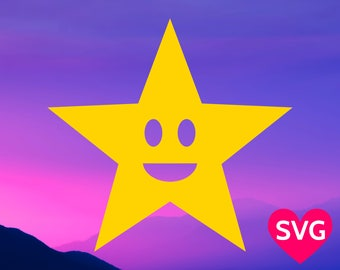 Smìling Star SVG file, a very Happy Star design!