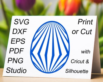 Diamond Easter Egg SVG file, a beautiful Easter Egg clipart with a Diamond pattern