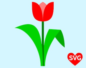 Tulip SVG File for Cricut and Silhouette and Tulip printable clipart to celebrate Spring