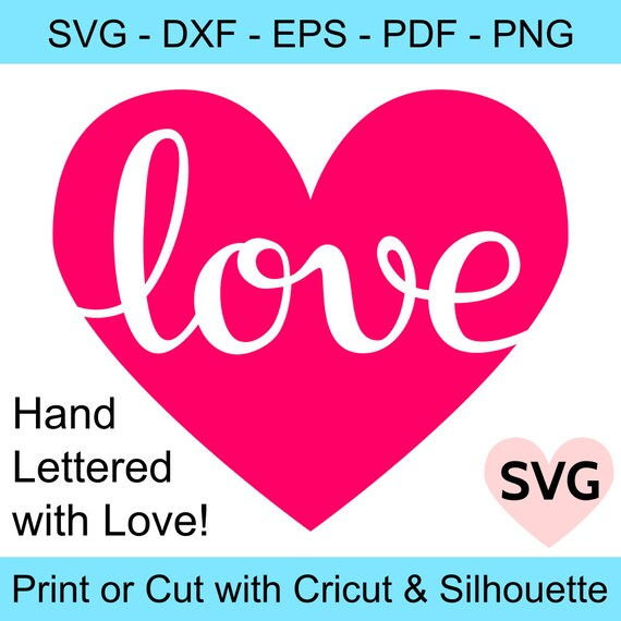 Love Heart Svg File Love Svg Files For Cricut Valentine Svg Etsy