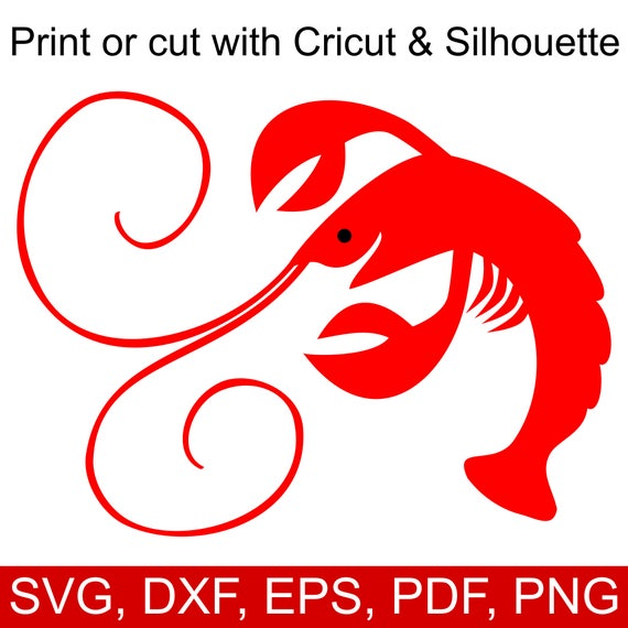 Mardi Gras Crawfish Svg File For Cricut And Silhouette Etsy