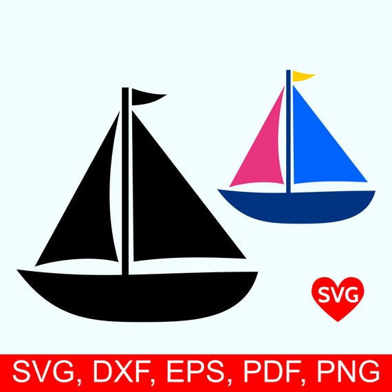 Sailboat Svg File Sailing Svg File For Cricut Sailboat Etsy