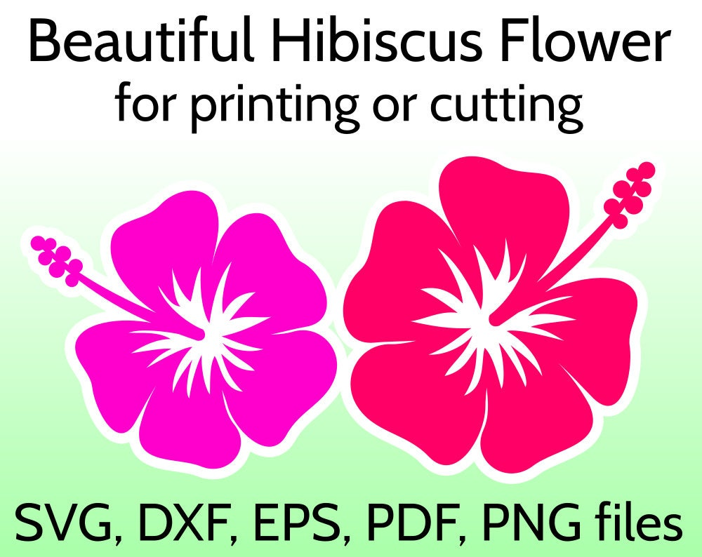 Hibiscus Svg Flower Cut File For Cricut Silhouette Tropical