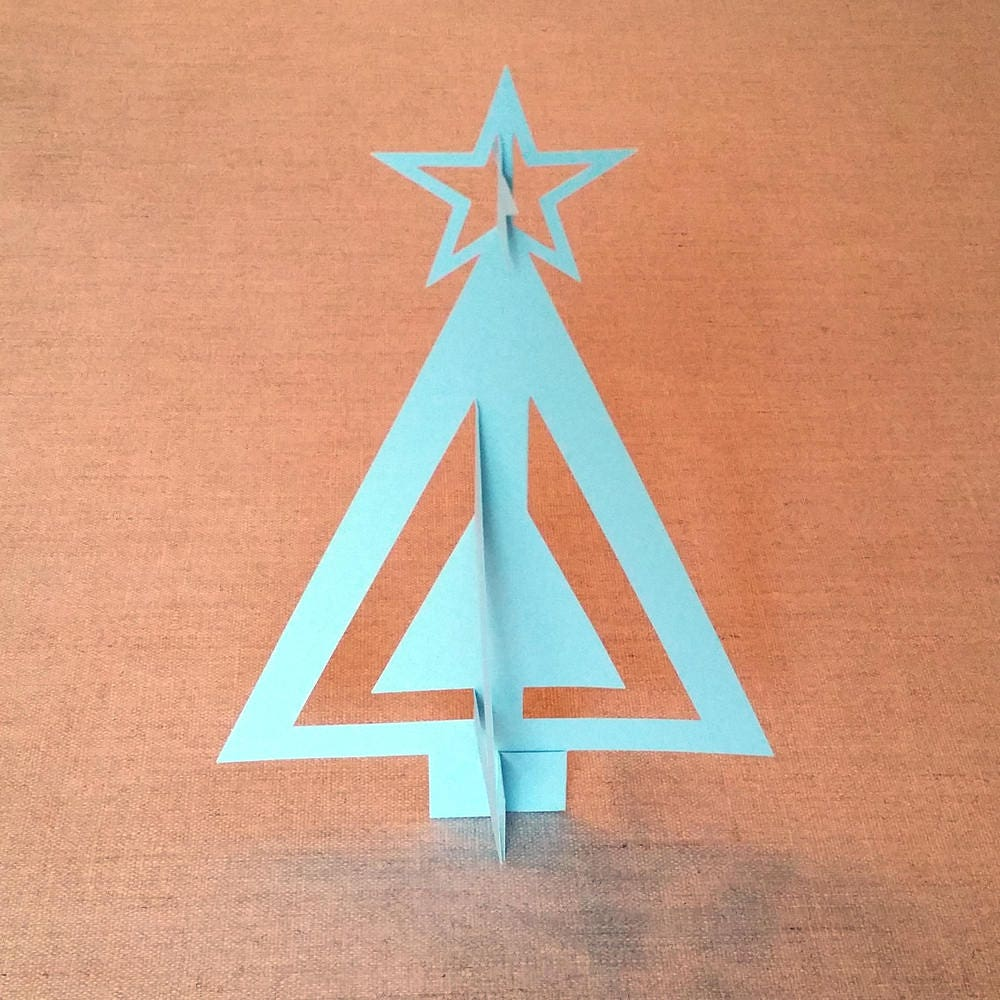 Diy Paper 3d Christmas Tree Template Svg Pdf Dxf Png For Cricut