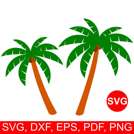 Palm Tree Svg File For Cricut Palm Tree Clipart Palm Tree Etsy