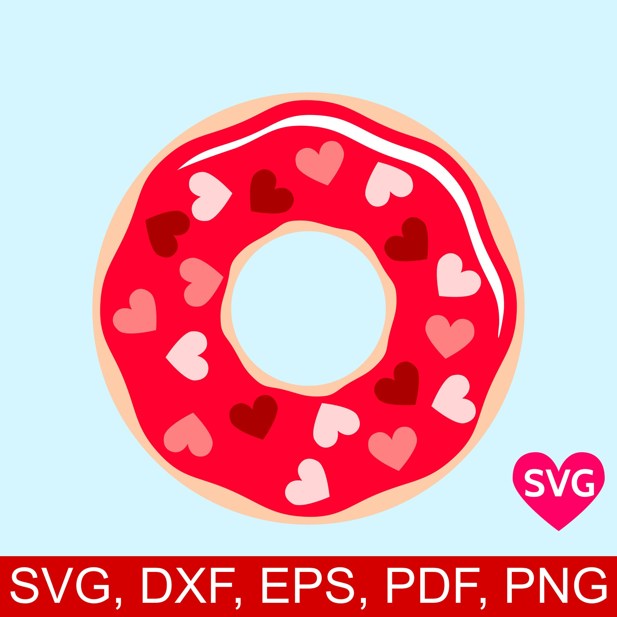 A lovely Donut sprinkled with Candy Hearts for Valentine\'s Day ...