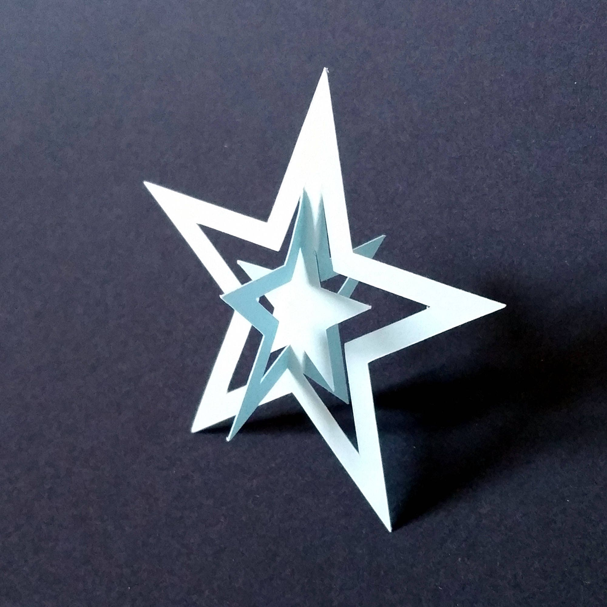 3d Paper Christmas Star Svg And Pdf Template 3d Christmas Star