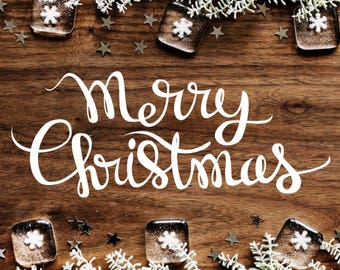 Merry Christmas SVG Handwriting, Handwritten Merry Christmas SVG cut file for Cricut & Silhouette, Christmas sayings SVG, dxf, pdf, png