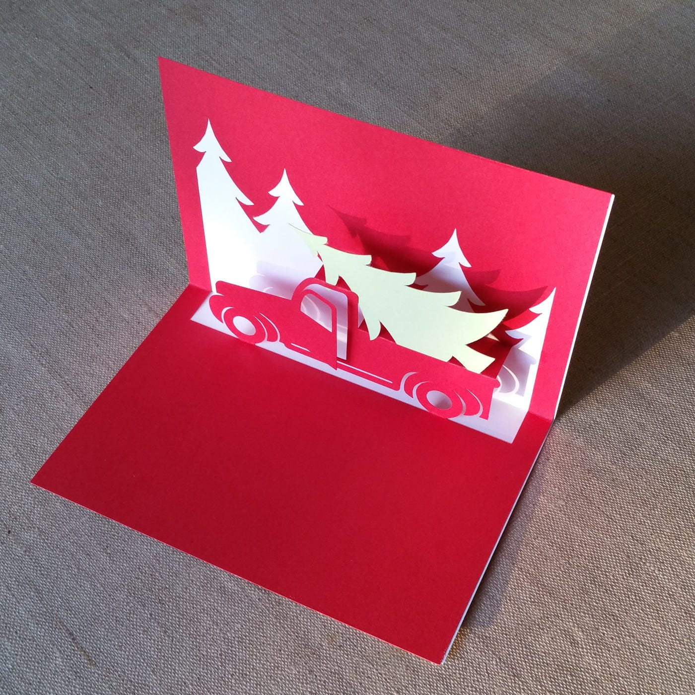 Download Christmas Truck Popup Card Template SVG & PDF for Cricut ...