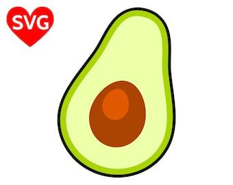 Avocado SVG File for Cricut and Silhouette and printable Avocado clipart