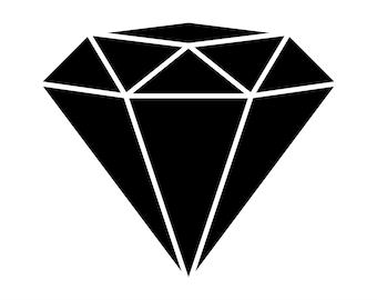 Diamond SVG File, Diamond Clipart, Diamond DXF, Diamond Silhouette, Diamond Cricut, Engagement SVG Files, Diamonds Clip art, Black Diamond