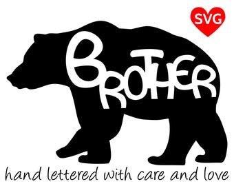 Brother Bear SVG Files for Cricut and printable clipart to make Brother Bear shirts, hats, mugs, vinyl decals and gifts