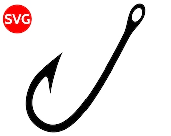 Fishing Hook SVG File and printable clipart