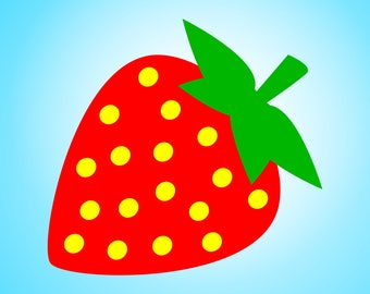 A simple but beautiful Strawberry SVG design for Cricut and Silhouette