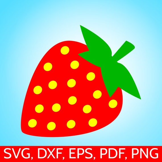 Strawberry Svg File For Cricut Silhouette Strawberry Clipart Etsy