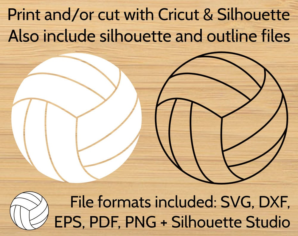Volleyball Ball Svg Design Cut File For Cricut Silhouette Svg Volley Ball Vector Clipart Dxf Eps Png Pdf Files