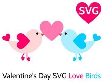 Valentine's Day SVG Love Birds SVG file for Cricut & Silhouette, Cute Valentines SVG files, Valentine svg, Valentines Day svg