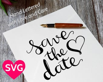 Save the Date SVG file, Printable Wedding Invites PDF, Engagement Invitation Template, Wedding SVG files, Save the date printable template