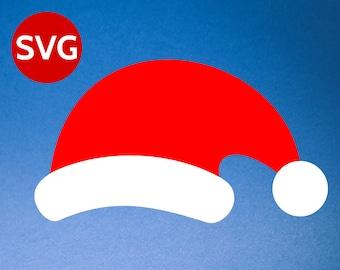 Santa Hat SVG for Cricut & Silhouette - Santa Hat DXF, PNG, pdf, Santa Claus Hat design, Santa Hat Cricut file