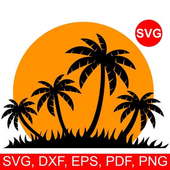 Beach Svg Palm Tree sunset Svg People at sunset Svg Ocean Breeze Svg Sunset Svg File \u0421ouple in love at sunset Svg Vacation svg Vector