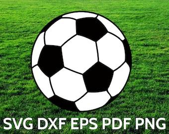 Soccer Ball SVG Design, Cut file for Cricut & Silhouette, SVG Soccer Ball Vector Clipart, dxf, eps, png, pdf files