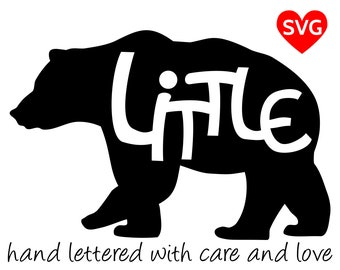 Little Bear SVG Files for Cricut and printable clipart to make Little Bear shirts, hats, mugs, vinyl decals and gifts