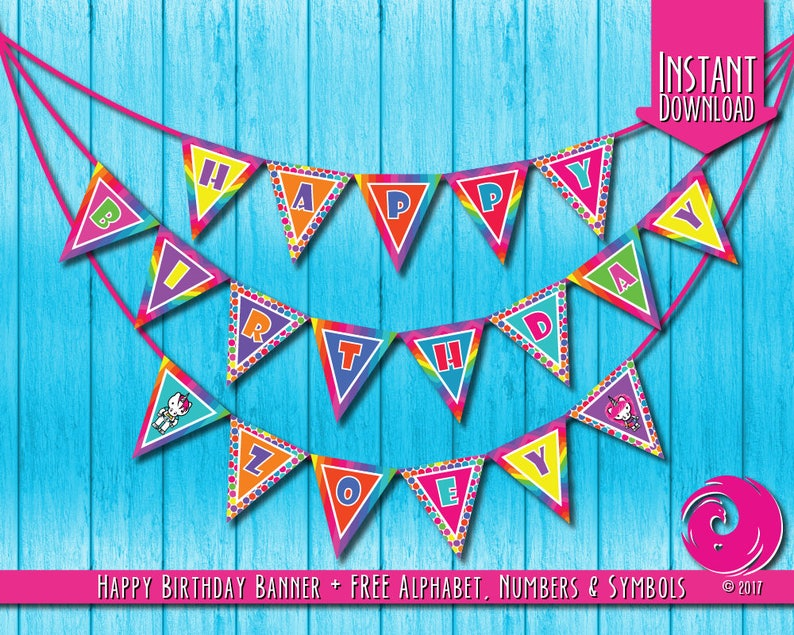 INSTANT DOWNLOAD: Magical Unicorn Rainbow Birthday Party image 0