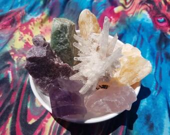 Hemp Macrame Crystal Blessings Hanging Home Decor/Keepsake/Meaningful gift
