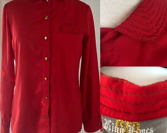 Vintage 70s King James Red Button-Down Shirt