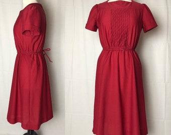 Vintage 70s Cranberry Lady Carol New York Dress