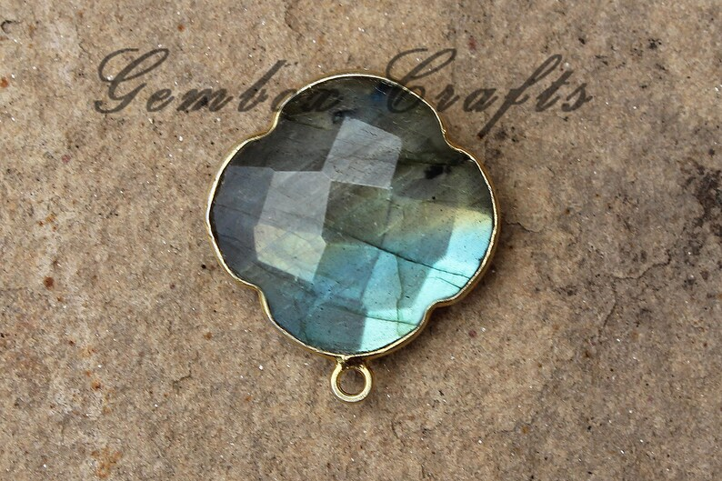 AAA quality Labradorite Pear /& Zircon faceted Pendant Set 925 Sterling Silver jewelry craft