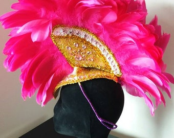 Gold&Love! Pink samba headdress