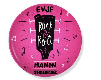 Bachelorette party customizable 38MM badge / ROCK