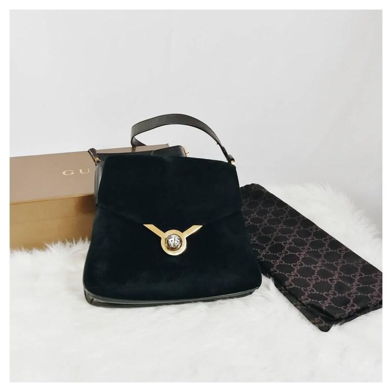 806f1a24e8dc Rare Vintage 70s Gucci Tigerhead Turn Lock Bag | Etsy