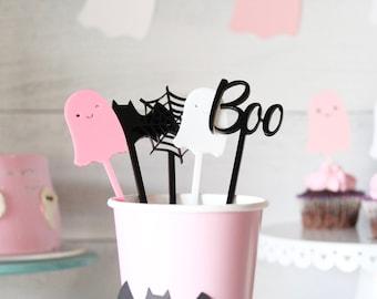 Halloween drink stir sticks