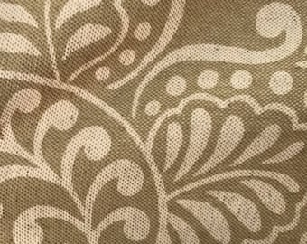 Schumacher Beige patterned fabric