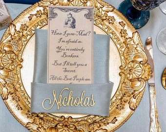 Personalized Laser Cut Names   Wedding Place Settings   Wedding Place Cards   Wedding Decor   Table Setting   Wedding Name Plates