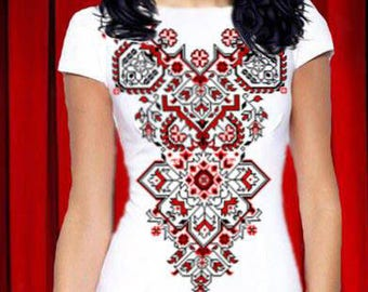 Ukrainian embroidered dress Vyshyvanka Ukraine embroidery Beaded dress Embroidered dress Ukraine clothes Colorful bead dress