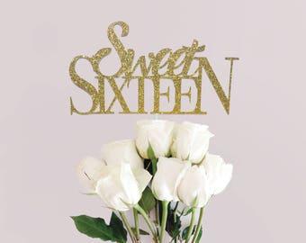 Sweet Sixteen | Birthday Cake Topper | Sweet16