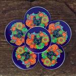 Strange Berry Psychedelic Cat | Waterproof Circular Vinyl Die-Cut Sticker